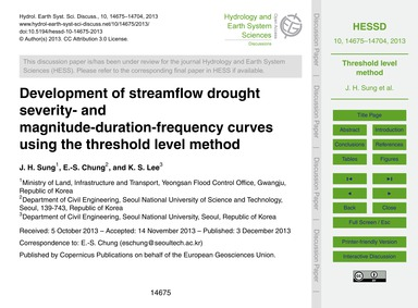 Development of Streamflow Drought Severi... by Sung, J. H.