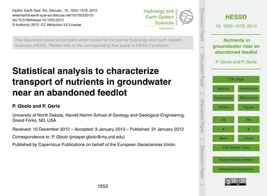 Statistical Analysis to Characterize Tra... by Gbolo, P.