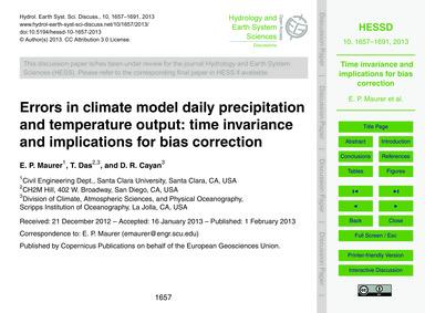 Errors in Climate Model Daily Precipitat... by Maurer, E. P.