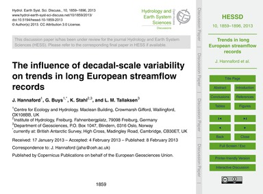The Influence of Decadal-scale Variabili... by Hannaford, J.