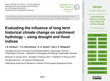 Evaluating the Influence of Long Term Hi... by Karlsson, I. B.
