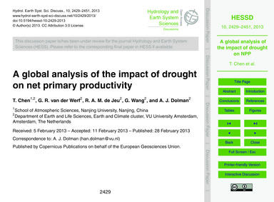 A Global Analysis of the Impact of Droug... by Chen, T.