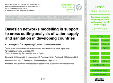 Bayesian Networks Modelling in Support t... by Dondeynaz, C.