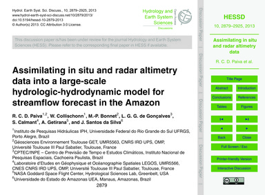 Assimilating in Situ and Radar Altimetry... by Paiva, R. C. D.