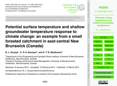 Potential Surface Temperature and Shallo... by Kurylyk, B. L.
