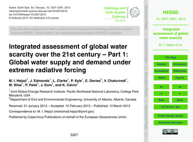 Integrated Assessment of Global Water Sc... by Hejazi, M. I.
