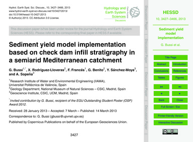 Sediment Yield Model Implementation Base... by Bussi, G.