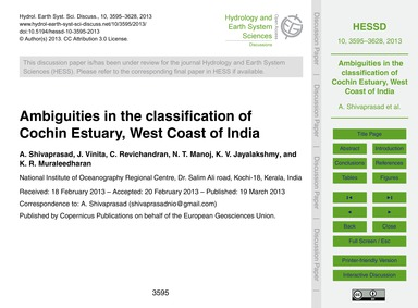 Ambiguities in the Classification of Coc... by Shivaprasad, A.