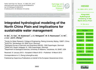 Integrated Hydrological Modeling of the ... by Qin, H.