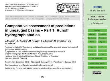 Comparative Assessment of Predictions in... by Parajka, J.