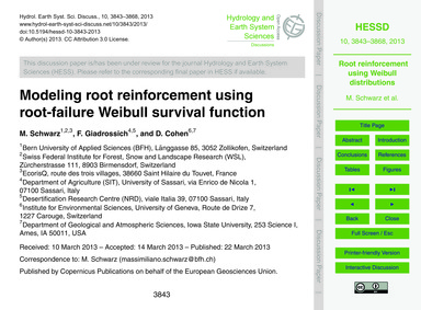 Modeling Root Reinforcement Using Root-f... by Schwarz, M.