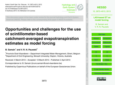 Opportunities and Challenges for the Use... by Samain, B.