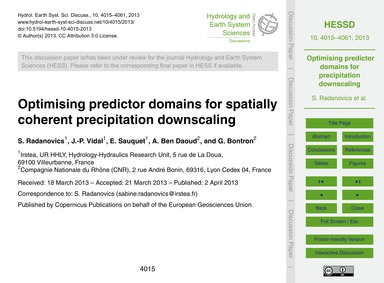 Optimising Predictor Domains for Spatial... by Radanovics, S.
