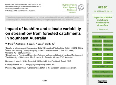 Impact of Bushfire and Climate Variabili... by Zhou, Y.