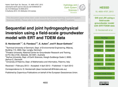 Sequential and Joint Hydrogeophysical In... by Herckenrath, D.