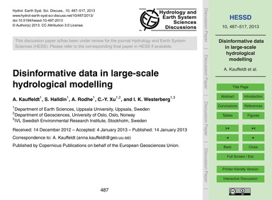 Disinformative Data in Large-scale Hydro... by Kauffeldt, A.