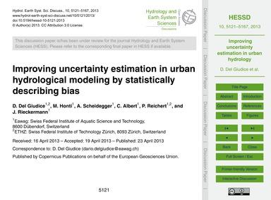 Improving Uncertainty Estimation in Urba... by Del Giudice, D.