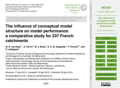 The Influence of Conceptual Model Struct... by Van Esse, W. R.