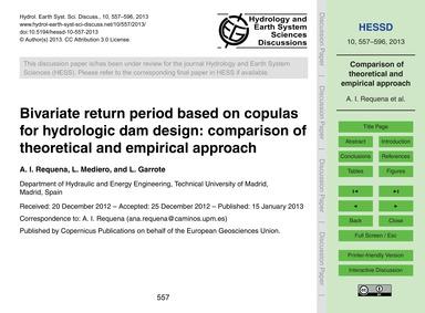 Bivariate Return Period Based on Copulas... by Requena, A. I.