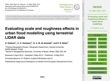 Evaluating Scale and Roughness Effects i... by Ozdemir, H.