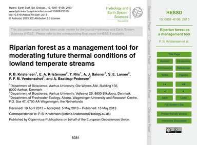 Riparian Forest as a Management Tool for... by Kristensen, P. B.