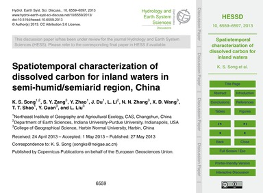 Spatiotemporal Characterization of Disso... by Song, K. S.