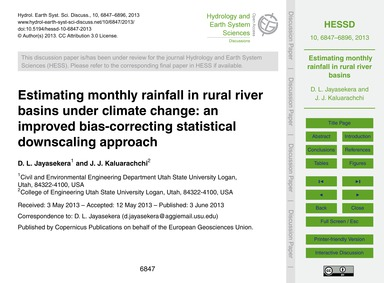 Estimating Monthly Rainfall in Rural Riv... by Jayasekera, D. L.