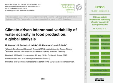 Climate-driven Interannual Variability o... by Kummu, M.
