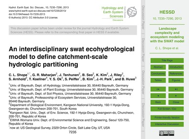 An Interdisciplinary Swat Ecohydrologica... by Shope, C. L.