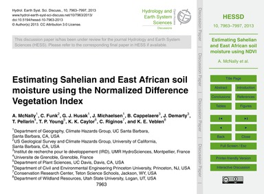 Estimating Sahelian and East African Soi... by McNally, A.