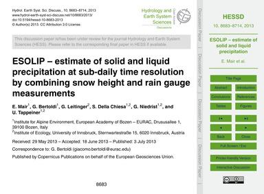 Esolip – Estimate of Solid and Liquid Pr... by Mair, E.