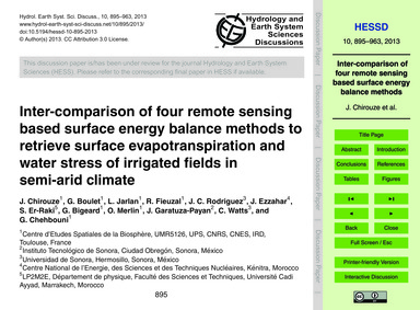 Inter-comparison of Four Remote Sensing ... by Chirouze, J.