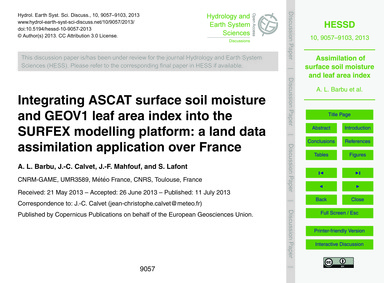 Integrating Ascat Surface Soil Moisture ... by Barbu, A. L.