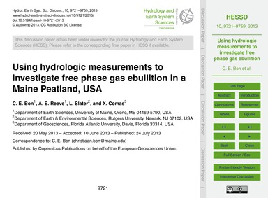 Using Hydrologic Measurements to Investi... by Bon, C. E.