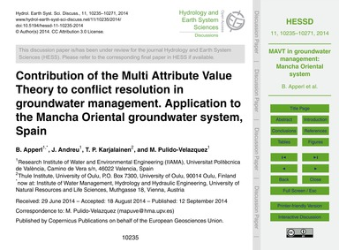 Contribution of the Multi Attribute Valu... by Apperl, B.