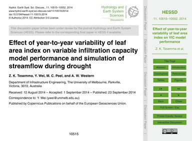 Effect of Year-to-year Variability of Le... by Tesemma, Z. K.