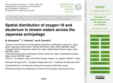 Spatial Distribution of Oxygen-18 and De... by Katsuyama, M.