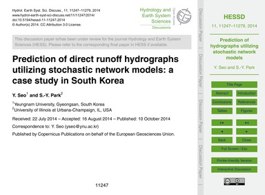 Prediction of Direct Runoff Hydrographs ... by Seo, Y.