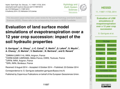 Evaluation of Land Surface Model Simulat... by Garrigues, S.