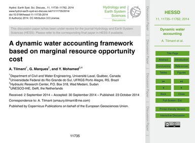 A Dynamic Water Accounting Framework Bas... by Tilmant, A.