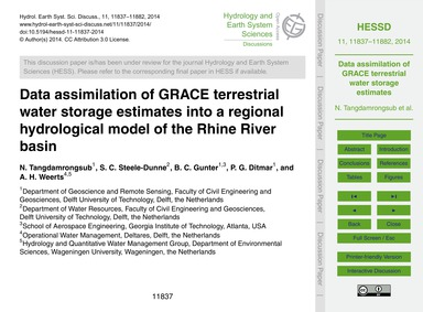 Data Assimilation of Grace Terrestrial W... by Tangdamrongsub, N.