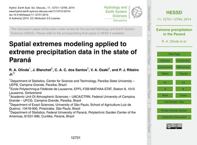 Spatial Extremes Modeling Applied to Ext... by Olinda, R. A.