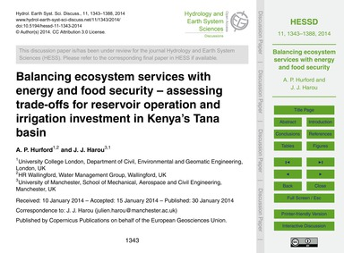 Balancing Ecosystem Services with Energy... by Hurford, A. P.