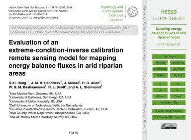 Evaluation of an Extreme-condition-inver... by Hong, S.-h.