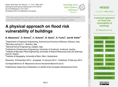 A Physical Approach on Flood Risk Vulner... by Mazzorana, B.