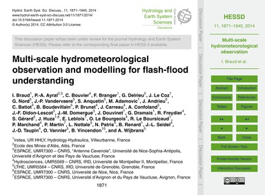 Multi-scale Hydrometeorological Observat... by Braud, I.