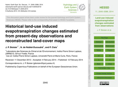 Historical Land-use Induced Evapotranspi... by Boisier, J. P.