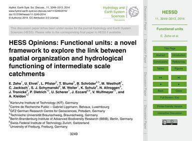 Hess Opinions: Functional Units: a Novel... by Zehe, E.