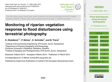 Monitoring of Riparian Vegetation Respon... by Džubáková, K.