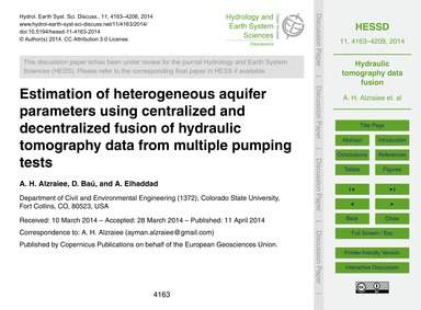 Estimation of Heterogeneous Aquifer Para... by Alzraiee, A. H.